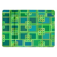 Green Abstract Geometric Samsung Galaxy Tab 10 1  P7500 Flip Case