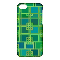 Green Abstract Geometric Apple Iphone 5c Hardshell Case by BangZart