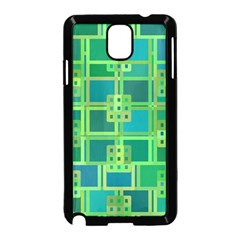 Green Abstract Geometric Samsung Galaxy Note 3 Neo Hardshell Case (black)