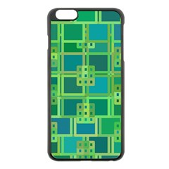 Green Abstract Geometric Apple Iphone 6 Plus/6s Plus Black Enamel Case