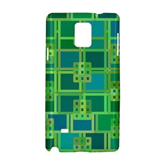 Green Abstract Geometric Samsung Galaxy Note 4 Hardshell Case by BangZart