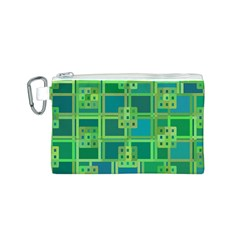 Green Abstract Geometric Canvas Cosmetic Bag (s) by BangZart
