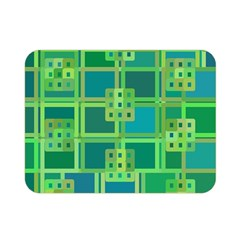 Green Abstract Geometric Double Sided Flano Blanket (mini)  by BangZart
