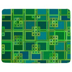 Green Abstract Geometric Jigsaw Puzzle Photo Stand (rectangular) by BangZart