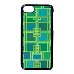 Green Abstract Geometric Apple Iphone 7 Seamless Case (black)