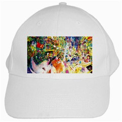 Multicolor Anime Colors Colorful White Cap by BangZart