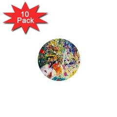 Multicolor Anime Colors Colorful 1  Mini Buttons (10 Pack)