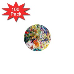Multicolor Anime Colors Colorful 1  Mini Magnets (100 Pack)