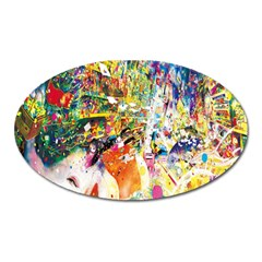 Multicolor Anime Colors Colorful Oval Magnet