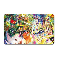 Multicolor Anime Colors Colorful Magnet (rectangular)