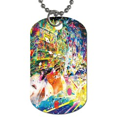 Multicolor Anime Colors Colorful Dog Tag (one Side)