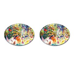 Multicolor Anime Colors Colorful Cufflinks (oval) by BangZart