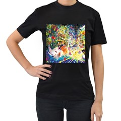 Multicolor Anime Colors Colorful Women s T Shirt (black)