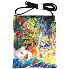 Multicolor Anime Colors Colorful Shoulder Sling Bags