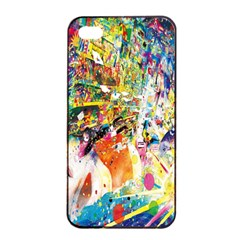 Multicolor Anime Colors Colorful Apple Iphone 4/4s Seamless Case (black)