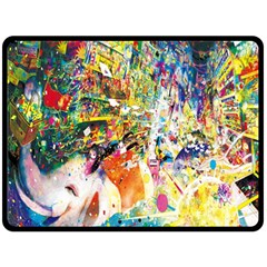 Multicolor Anime Colors Colorful Double Sided Fleece Blanket (large)