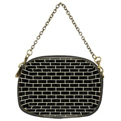 Brick1 Black Marble & Beige Linen Chain Purses (two Sides)  by trendistuff