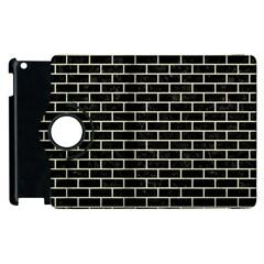 Brick1 Black Marble & Beige Linen Apple Ipad 2 Flip 360 Case by trendistuff