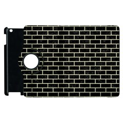 Brick1 Black Marble & Beige Linen Apple Ipad 3/4 Flip 360 Case by trendistuff