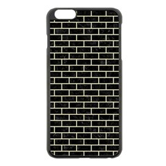 Brick1 Black Marble & Beige Linen Apple Iphone 6 Plus/6s Plus Black Enamel Case by trendistuff