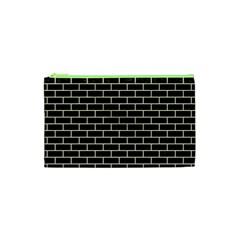 Brick1 Black Marble & Beige Linen Cosmetic Bag (xs) by trendistuff