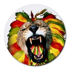 Reggae Lion Round Mousepads