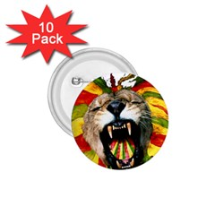 Reggae Lion 1 75  Buttons (10 Pack)