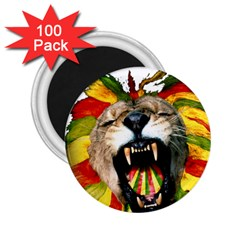 Reggae Lion 2 25  Magnets (100 Pack)  by BangZart
