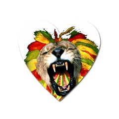 Reggae Lion Heart Magnet by BangZart