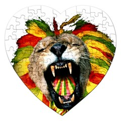 Reggae Lion Jigsaw Puzzle (heart) by BangZart