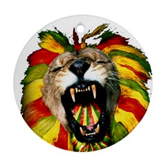 Reggae Lion Round Ornament (two Sides) by BangZart