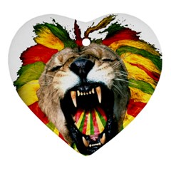 Reggae Lion Heart Ornament (two Sides)