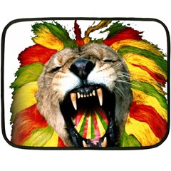 Reggae Lion Fleece Blanket (mini) by BangZart