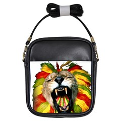 Reggae Lion Girls Sling Bags by BangZart
