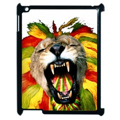 Reggae Lion Apple Ipad 2 Case (black) by BangZart
