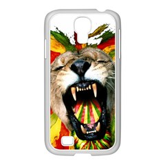 Reggae Lion Samsung Galaxy S4 I9500/ I9505 Case (white) by BangZart