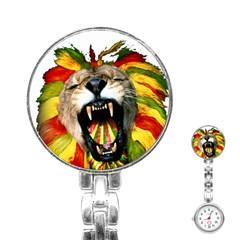 Reggae Lion Stainless Steel Nurses Watch