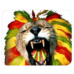 Reggae Lion Double Sided Flano Blanket (medium)  by BangZart