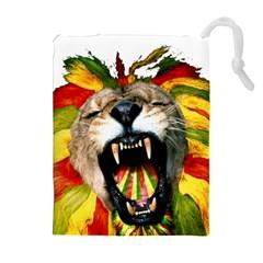Reggae Lion Drawstring Pouches (extra Large)