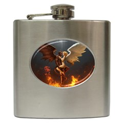 Angels Wings Curious Hell Heaven Hip Flask (6 Oz)
