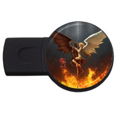 Angels Wings Curious Hell Heaven Usb Flash Drive Round (2 Gb) by BangZart