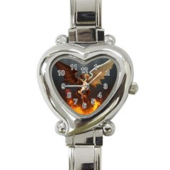 Angels Wings Curious Hell Heaven Heart Italian Charm Watch by BangZart
