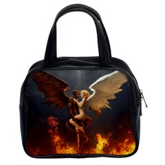 Angels Wings Curious Hell Heaven Classic Handbags (2 Sides)