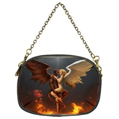 Angels Wings Curious Hell Heaven Chain Purses (one Side)  by BangZart