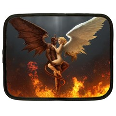 Angels Wings Curious Hell Heaven Netbook Case (xl)  by BangZart