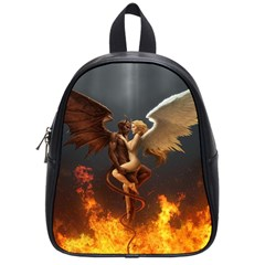 Angels Wings Curious Hell Heaven School Bags (small)  by BangZart