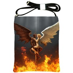 Angels Wings Curious Hell Heaven Shoulder Sling Bags by BangZart