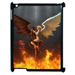 Angels Wings Curious Hell Heaven Apple Ipad 2 Case (black) by BangZart