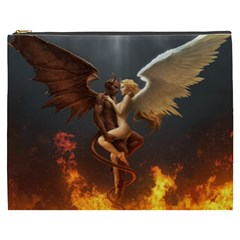 Angels Wings Curious Hell Heaven Cosmetic Bag (xxxl)  by BangZart