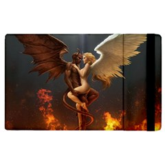 Angels Wings Curious Hell Heaven Apple Ipad 3/4 Flip Case by BangZart